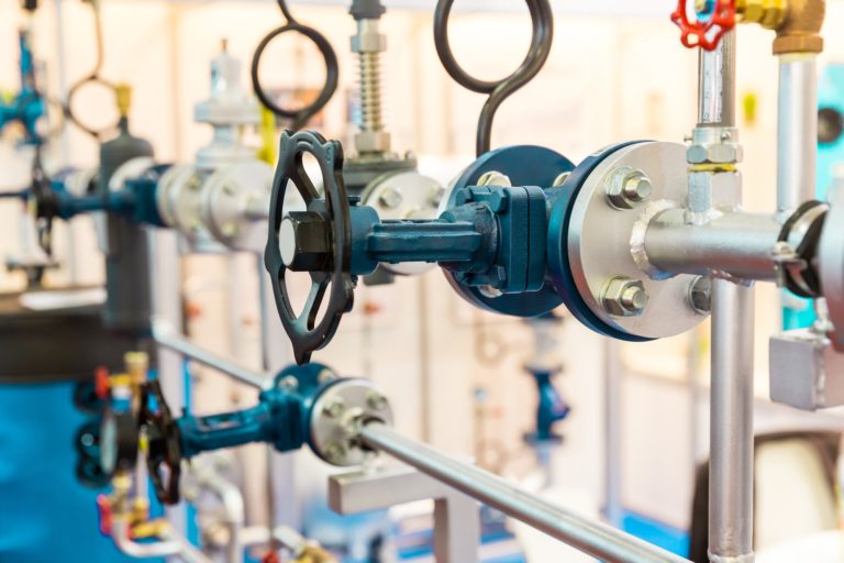 Gate valves, water pipeline, heat circuit